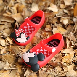 Wholesale Summer Leather Sandals For Girls - Girl Mini Melissa Shoes Summer Cartoon Sandals Cute Baby Candy Sandals for girls Children Shoes For Girl Retail