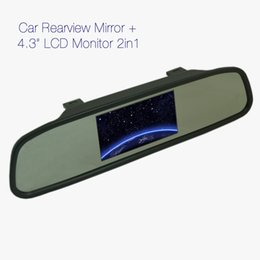 Wholesale Dashboard Camera Mirror - FEELDO 4.3inch TFT LCD Digital Car Rearview Monitor With Mirror For Reversing Backup Camera DVD VCR #4619