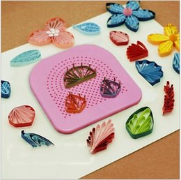 Wholesale Paper Flower Tool - Paper Quilling Winding Tool DIY Paper Flower Make Appliance Belt 20 Needles Arts And Crafts Making Tools Hot Sale 7fx J R