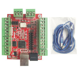 Wholesale Axis Cards - CNC MACH3 USB 4 Axis 100KHz Stepper Motor Controller Card Breakout Board