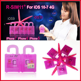 Wholesale Gsm Unlock Wholesale - r sim 11+ plus rsim 11+ RSIM11+ r sim11+ unlock card for iPhone 7 plug iphone 6 unlocked iOS10 IOS 10 9 8 7 4G CDMA GSM WCDMA SB AU SPRINT