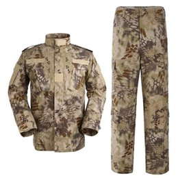 Camisa multi camo online-Mandrake Tactical Jacket Sets Cargo SHIRT + PANTS Uniforme de combate de camuflaje Us Army Airsoft Camo BDU Kryptek Camo