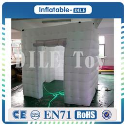 Wholesale Enclosure Portable - Hot Selling 2017 Portable Inflatable Photo Booth Enclosure Led Wedding Inflatable Photo Booth Enclosure Free Shipping