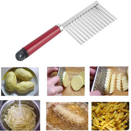 Wholesale Carrot Cutter Slicer - 200pcs French Fry Cutters Potato Dough Waves Crinkle Cutter Slicer Potato Cutter Slicer Kitchen Vegetable Carrot Chip Blade