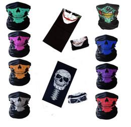 Событие Партия Хэллоуин Страшная Маска Фестиваль Череп Маски Скелет Мотоцикл Велосипед Мульти Маски Шарф Половина Партии Маска Для Лица Cap Шеи Призрак от Поставщики скелетная маска для лица