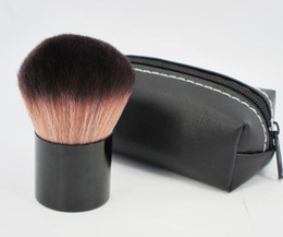 Wholesale Shipping Bags For Hair - Makeup 182 rouge brush \blusher brush+Leather bag M182 Makeup Brush Free Shipping Via DHL For Xmas Holiday Gift