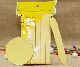 Wholesale Yellow Cleaning Sponge - Yellow Skin Care Compressed Sponge Foam Mat Pad New Cleaning Wash Puff Sponge Stick Face Cleansing