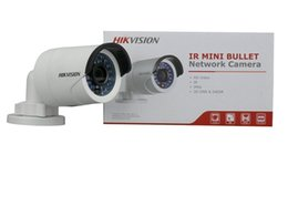 Wholesale Wire 4mm - US Hikvision Original English DS-2CD2042WD-I 4MP PoE Outdoor WDR Network Security IP Camers 4mm lens