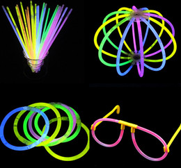 Wholesale Multi Color Glow Stick Party - Wholesale- 100pcs High Quality Multi Color Glow Stick Bracelets Glowsticks light stick flashing led toys Xmas Christmas Party Supplies