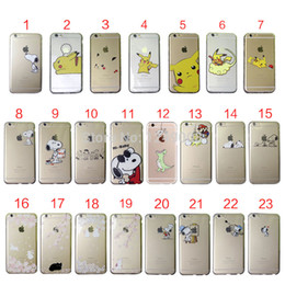 Wholesale Iphone 4s Baby - For iPhone 4 4S 5 5C 5S SE 6 6S 7 Plus Cute Puppy Baby Cat Rabbit Soft Clear TPU Case Cover