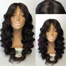 Wholesale Wigs For Women Malaysia - Malaysia Loose Deep Wave Gluless Full Lace Human Hair Wigs For Black Women Pre Plucked Wavy Remy Hair Wigs 150% Density