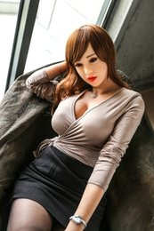 Wholesale Japanese Anime Real Sex Dolls - 155cm real silicone sex dolls robot japanese realistic sexy anime oral love doll big breast vagina adult full life toys for men