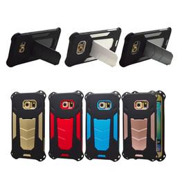 Canada 2in1 Ironman Case Étui pour téléphone portable pour iPhone7 7G Plus 6G 6S Plus IPhone 5 5G 5S Avec Kickstand Hard PC + TPU souple Offre