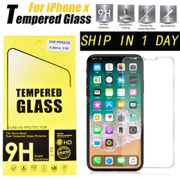 Wholesale 5s Iphone Protector - For Iphone X 8 7 Plus 5S Galaxy S8 7 Tempered Glass Film Explosion Proof Screen Protector For IPhone 6 Plus 4 4s 5 5s 5c SSC012