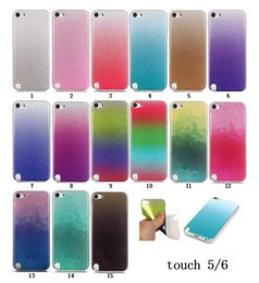 Wholesale Itouch Soft Silicone Case - Fashion Glitter Gradual Change Soft Silicone IMD TPU Case for Apple iPod touch 5 6 itouch 5 itouch 6 Sparkle Bling cover phone cases