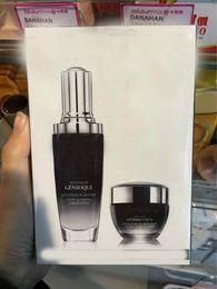 Wholesale Cream Serum - Famous Brand Black bottles 15ml eye cream+50ml face Cream Advanced Genifique Youth Activating Concentrate Serum