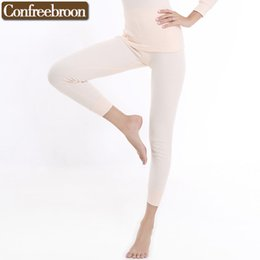 Wholesale Thin Male Thermal Underwear - Wholesale- High Quality Women's Long Johns Underwear Comfortable Pure Cotton Thermals Pants Male Thin Warm Leggins In Autumn And Winter 725