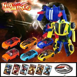 Wholesale Transformer Toy Wholesale - 6pcs lot Educational Toy for boys Transformer Robot Toys Tobot Mini Series Car Children new model toy Christmas gift