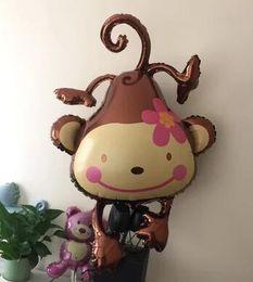 Wholesale Peach Balloons - Monkey balloon: hydrogen balloon, wholesale wedding, birthday party, balloon, peach blossom, monkey, love monkey