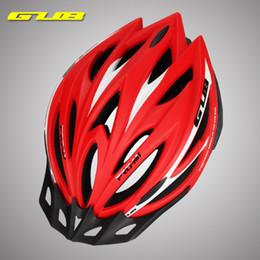 Wholesale Bike Visor - Red Black Gray Blue GUB M1 Ultralight 21 Holes Cycling MTB Mountain Road Bicycle Bike Helmet With Visor