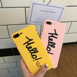 Wholesale Iphone Boys Case - Matte Frosted Hard Couple Case Design For iphone 7 7 6s Plus 7P 6P Pink Phone Cover for Girl Boy