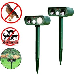 Wholesale Fox Bat - Wholesale Hot Selling Ultrasonic Solar Power Pest Animal Repeller Repellent Garden Bat Cat Dog Bird Mouse Pests Foxes