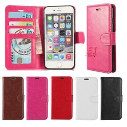 Wholesale Pink Photo Frame - For Iphone X Iphone 8 Plus Wallet Case For Note 8 PU Leather Cases Iphone 7 S8 Case Wallet Back Cover Pouch With Card Slot Photo Frame Opp