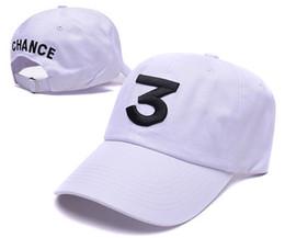 Wholesale Custom Embroidery Snapback Hats - new Embroidery Custom Popular Super trend chance the Rapper Numeral 3 Baseball Cap Black Letter Hip Hop Streetwear Snapback Sport Hats