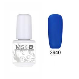 Wholesale 48 Color Uv Gel - Wholesale- MSK Gel polish 48 color matte Velvet soak off uv led gel nail polish nail art 5ml 3940