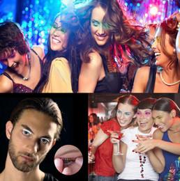 Wholesale Party False Eyelashes - LED Lashes LED Strips False Eyelash Sticker 3D LED Lashes For Halloween Christmas Party Decoration OOA2179
