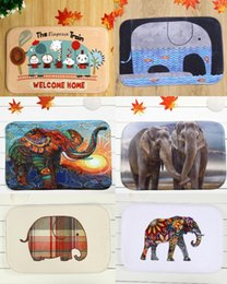 Wholesale Elephant Carpet - 40*60cm Elephant Series Bath Mats Anti-Slip Rugs Coral Fleece Carpet For For Bathroom Bedroom Doormat Online