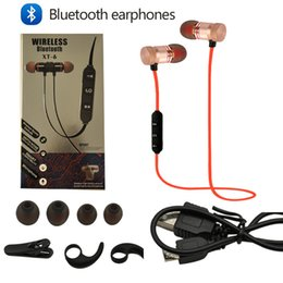 Wholesale Earpiece For Blackberry - For iphone 7 8 noise reduction Sports bluetooth headphones SweatProof Earphone Magnetic Earpiece Stereo Wireless Headset for Mobile Phone