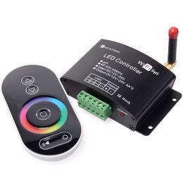 Диммер wifi онлайн-Регулятор Сид Wifi с remote панели касания RF, регулятором затемнителя Сид / цветовой температуры / RGB контролируемым системой IOS / android