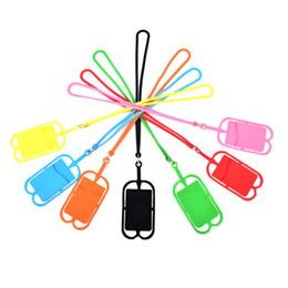 2019 hombre cuello cadena nuevo diseño Universal Sling Grip Lanyard Line Cuerda Correa de teléfono móvil para teléfono móvil con billetera Tarjeta de identificación de crédito Bolsa