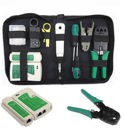 Wholesale Tester Tool - 2017 Hot selling RJ45 RJ11 Crimper Ethernet Network Hand Tool Kit Cable Tester Lan Crimp Cabling