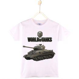 2017 Moda Nova Boys Camiseta Mundo de Tanques 100% Algodón Anime Niño Camiseta Niñas Tops Camisetas de Bebé Ropa de Los Niños Envío Gratis desde fabricantes