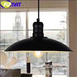 Wholesale E27 Pot Lights - FUMAT Industrial Pendant Lamp America Country Style Creative Coffee Shop Bar Loft Iron Pendant Lamp Pot Cover Lighting Fixture