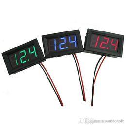 Wholesale Voltmeter Wires - Digital LED Display Voltage Meter Wire DC voltmeter G00031 ONET