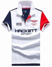 Roupas grã-bretanha on-line-Temporada Venda 2017 Verão Grã-bretanha Hackett polo Camisa Homens Roupas Inglaterra Moda HKT Esporte camisas Algodão Corrida Casual Polos