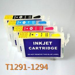 Wholesale Epson Stylus Sx425w - T1291 refillable ink cartridge for Epson Stylus SX230 SX235W SX420W SX425W SX430W SX435W SX438W SX440W printer with ARC chip