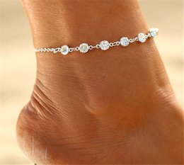 Wholesale Vintage Shoe Plates - Vintage Fashion Imitation Pearl Crystal Anklets For Women Stainless Steel Shoe Chain Bracelet Foot Jewelry 2017 Summer Sexy Beach Jewely