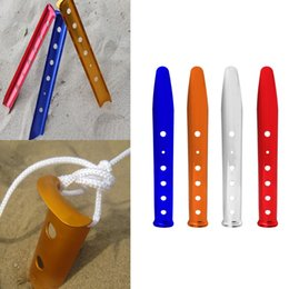 Wholesale Red Tube Game - 31Cm Camping Tent Peg U Shape Stakes Outdoor Hiking Snow Sand Tent Accessories Tent Nail Aluminum Skidproof Steady Metal