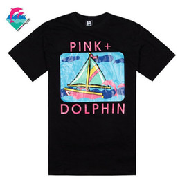 Wholesale Dance Wear Tops - pink dolphin 2018 new hip hop t-shirt men and women short sleeve plus size xxxl top quality factory wholesale cheap price street dance wear