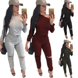 Wholesale Sexy Elastic Jumpsuits - 2017 new Fashion Women bodycon jumpsuit Long sleeve women jumpsuits sexy club ladies rompers bandage Elastic waistband macacao feminino