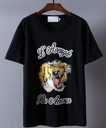 Wholesale Roar Shirt Xl - Top Rated Herren Roaring Tiger Printed Men Leisure T-Shirt Cotton Italy Polos Casual T-Shirts Tee Hip Hop Shirt Tops Gray