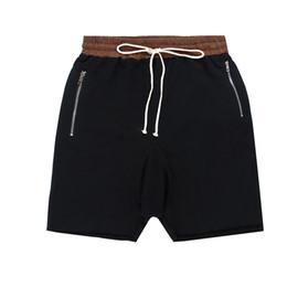 Wholesale Casual Short Trousers - Wholesale-Kanye West Justin Bieber Man Shorts Large Pocket Drawstring Harem Shorts Casual Joggers Fashion Men Trousers
