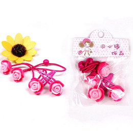 Wholesale Kids Plastic Hair Ties - Girls Barrettes Children Hair Accessories Kids Korean Flower Clip Baby Hair Accessories Hair Tie Girl free shipping