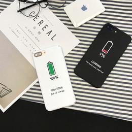 apple iphone батареи сотового телефона Скидка Чехол для телефона с низким уровнем заряда батареи Creative Icon для Iphone Xs Max Xr 6 7 8 X Plus ПК Все включено Жесткие чехлы для мобильных телефонов