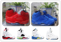 Wholesale Gold Star Discounts - Discount Retro JV 5 RED SUEDE Raging Bull 3m Pro Stars Olympic Gold Cool Wolf Grey Basketball Shoes Mens Sports Shoes Athletics Sneaker