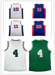 Wholesale I N - 2017 Cheap sales Men Throwback R n #10 basketball jersey High quality Stitched #11 I h jersey Embroidery Logos Fast free shipping
